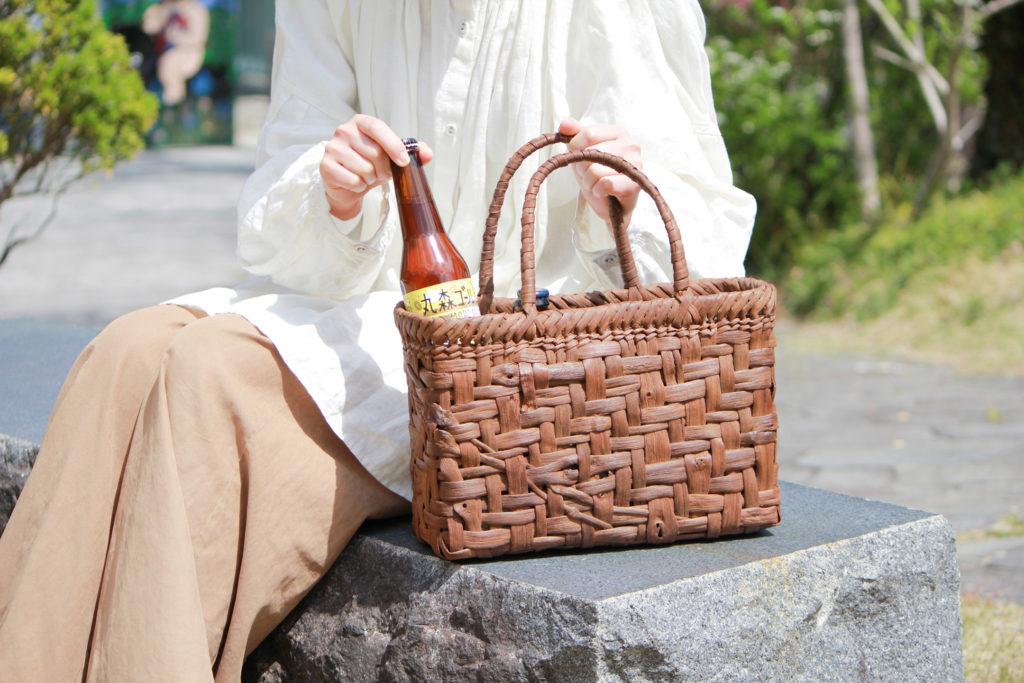 丸森町 手しごと maru 山葡萄づる バッグ